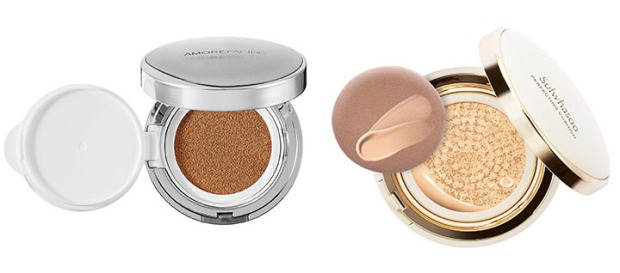 AmorePacific Color Control Cushion Compact, left, and Sulwhasoo Perfecting Cushion.