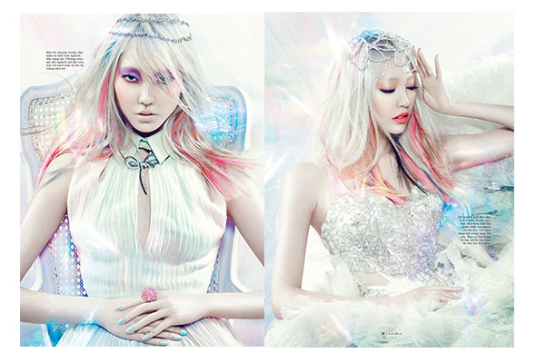 Soo Joo Park in a recent spread for Elle Vietnam.