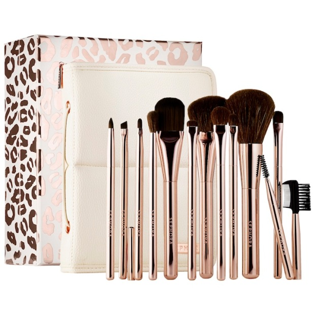 Sephora Collection Stand Up and Shine Prestige Easel Brush Set, $130.