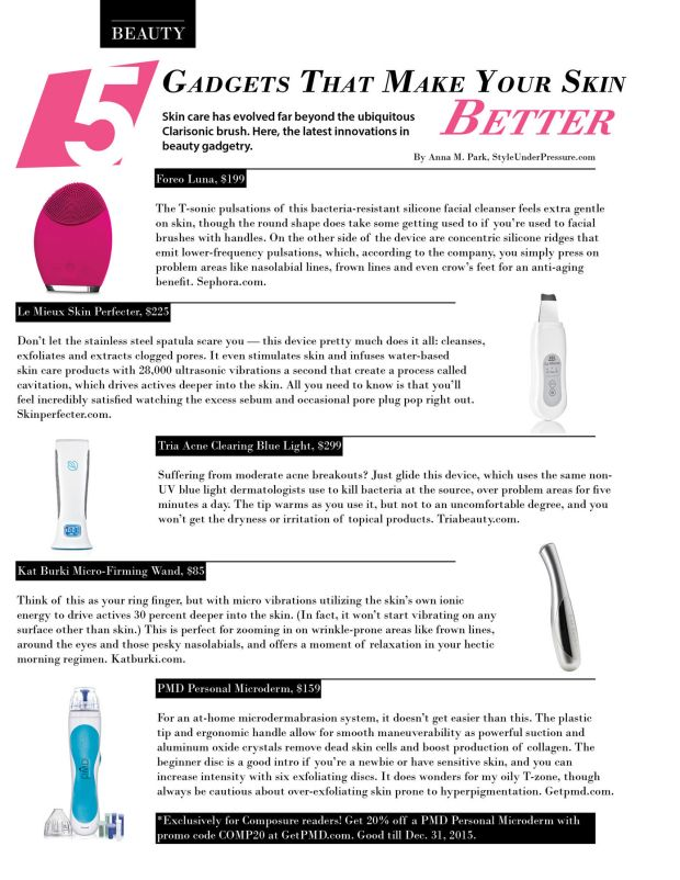 5 gadgets that make your skin better in Composure Magazine issue 08 winter 2015