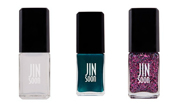 jin soon nail art for new year's eve in power coat, heirloom and fete
