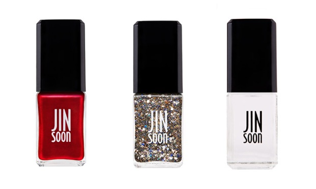 jin soon choi's nail art for new year's eve in jinsoon opulence, glace and top gloss