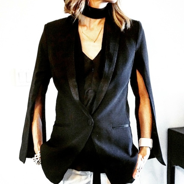 slit sleeve tux jacket
