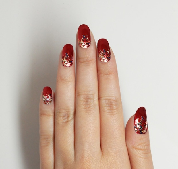 jin soon choi's nail art for new year's eve 2015 in opulence, glace and top gloss