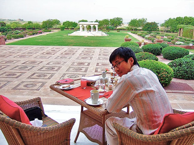 breakfast at the pillars at umaid bhawan palace, voted best hotel by tripadvisor 2016