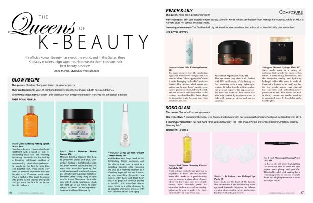 The Queens of K-beauty story on Korean beauty etailers and gurus for Composure Magazine issue 9