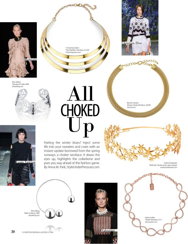 All Choked Up fashion story on spring 2016 fashion trend choker necklaces for Composure Magazine issue 9