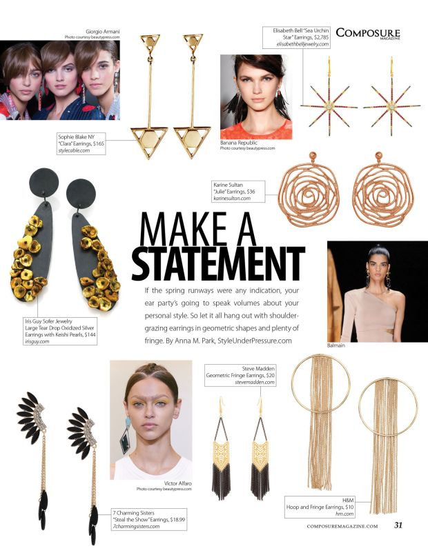 Make a Statement fashion story on spring 2016 fashion trend choker necklaces for Composure Magazine issue 9