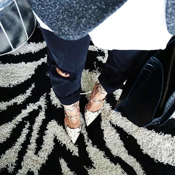 Steve Madden snakeskin lace up heels