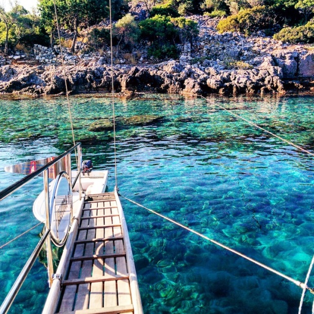 mediterranean gulet cruise along the southern coast of Turkey