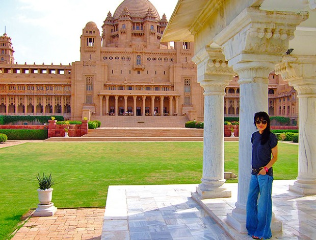 standing at the pavilion at umaid bhawan palace, voted best hotel by tripadvisor 2016