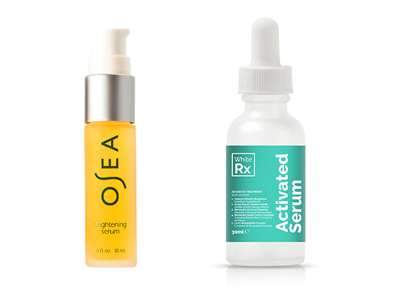 hyperpigmentation fighters with arbutin including osea serum and white rx activated serum