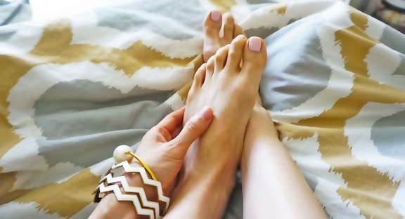 banishing dry winter feet how to