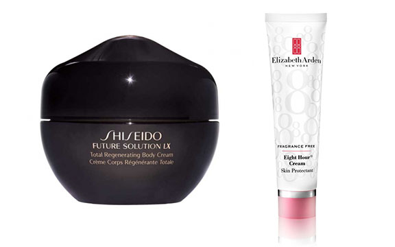 banish dry cracked feet with shiseido body cream and elizabeth arden 8 hour cream