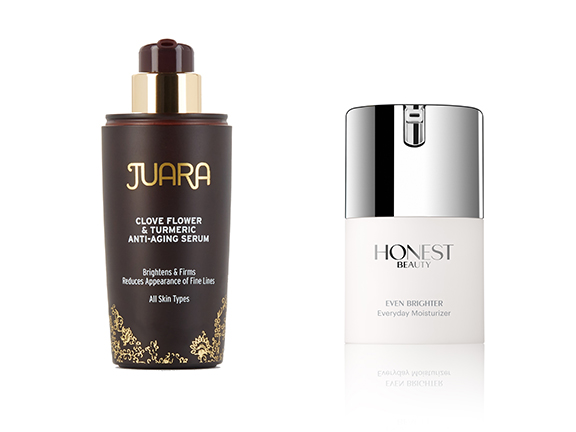 vitamin c hyperpigmentation fighting products juara serum and honest beauty moisturizer