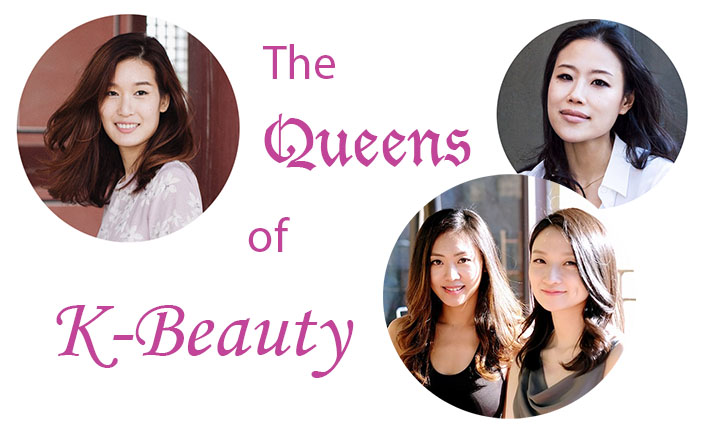 the queens of k-beauty charlotte cho of soko glam, christine chang and sarah lee of glow recipe and alicia yoon of peach & lily