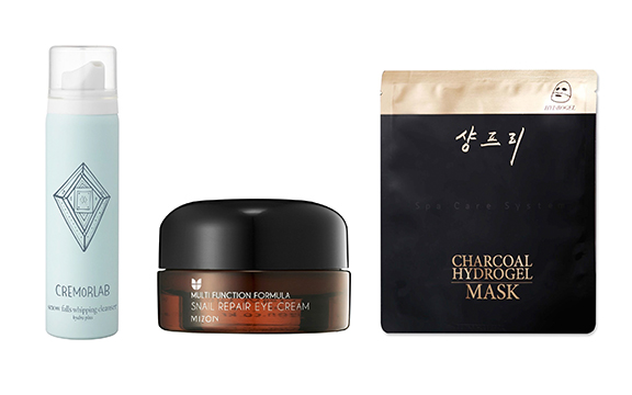 peach and lily favorite products cremorlab snow falls whipping cleanser mizon snail repair eye cream shangpree charcoal mask