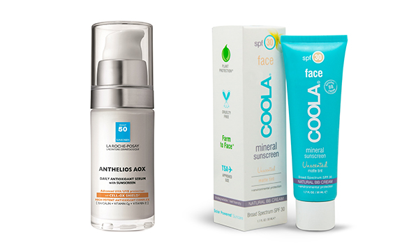 la roche-posay serum anthelios aox and coola mineral sunscreen