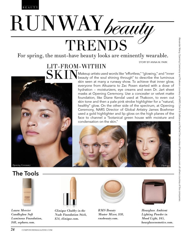 composure magazine spring runway trends