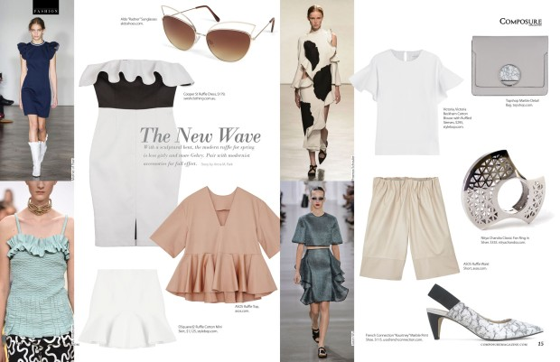 The Modern Ruffle, the new wave in Composure Magazine