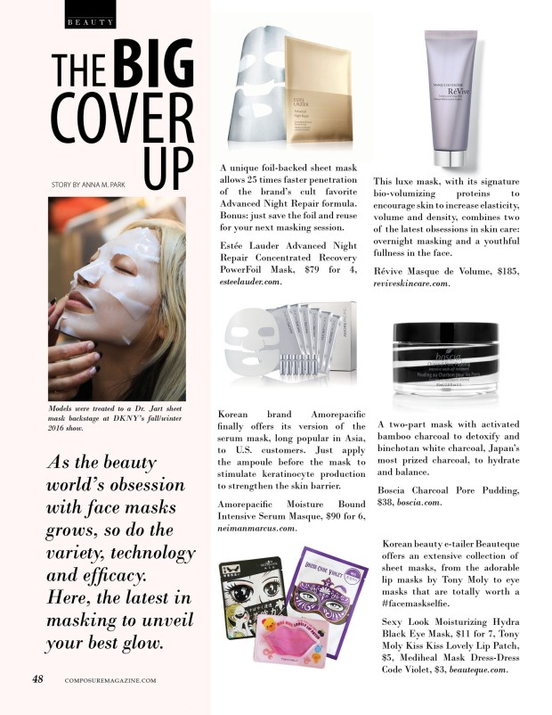 The Big Cover Up: the latest in face mask technology for Composure Magazine