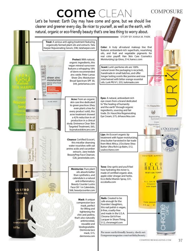 composure magazine come clean green natural eco beauty for every day