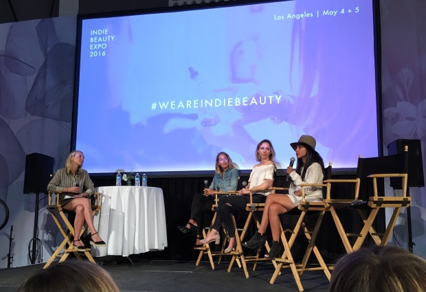 a panel at the indie beauty expo