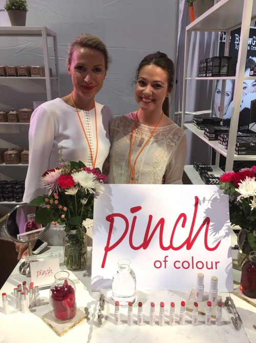 linda treska and pinch of colour at the indie beauty expo