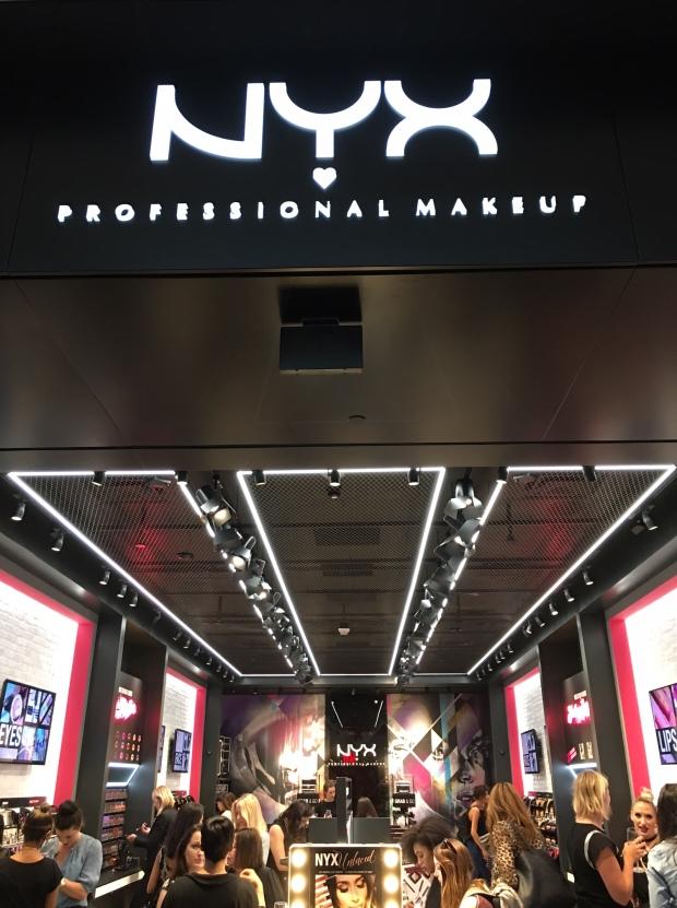 nyx cosmetics store opening