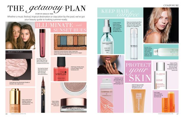 the getaway plan: composure magazine summer beauty guide