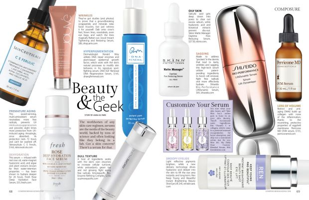 beauty & the geek: composure magazine's beauty story on serums for every skin type
