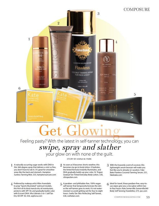 get glowing self tanner technology