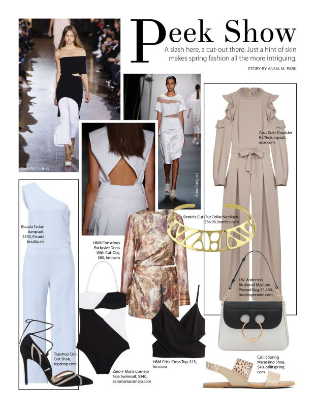 composure magazine fashion: peek show cut-outs and slits