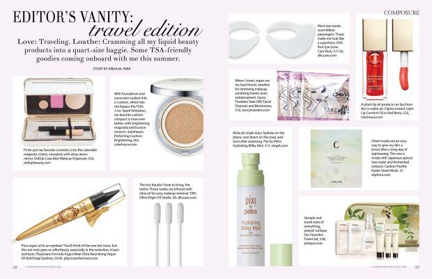 beauty editor's vanity: travel edition