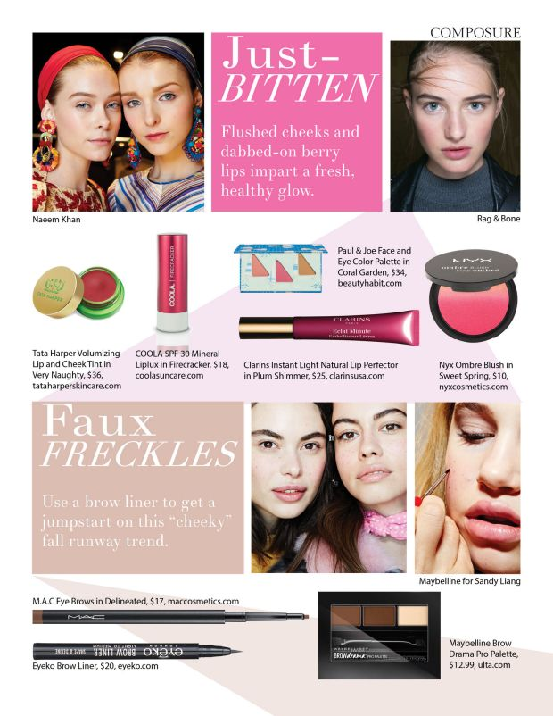composure magazine play time summer beauty trends