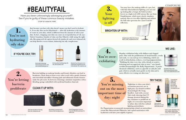composure magazine #beautyfail beauty mistakes