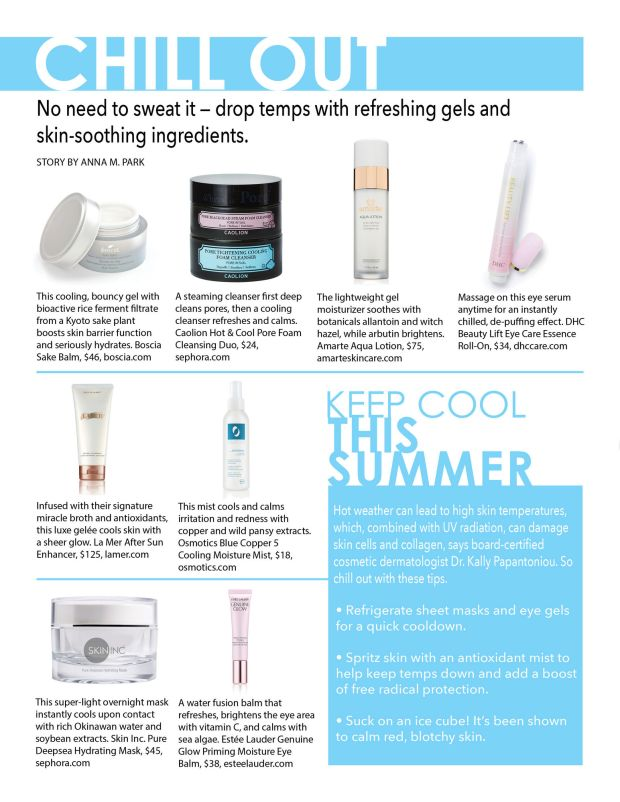 chill out composure magazine beauty story cooling products