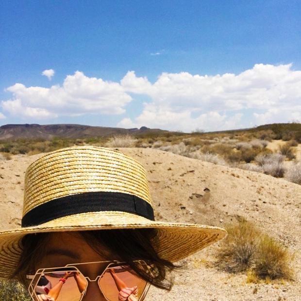 selfie at mojave desert