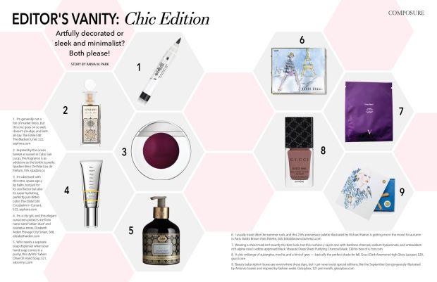composure magazine editor's vanity: chic edition