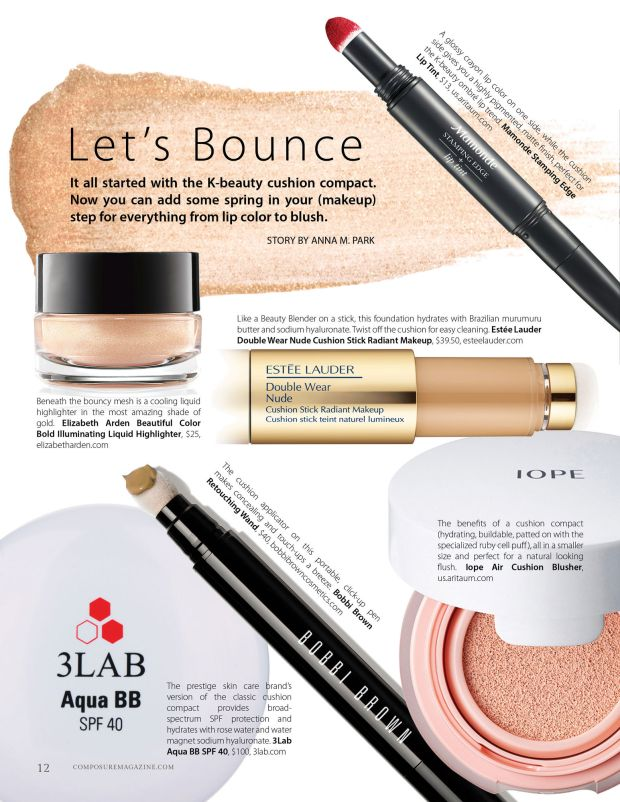 composure magazine let's bounce cushion beauty