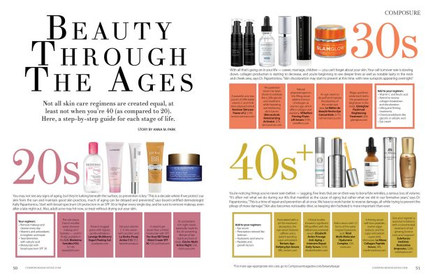composure magazine beauty through the ages
