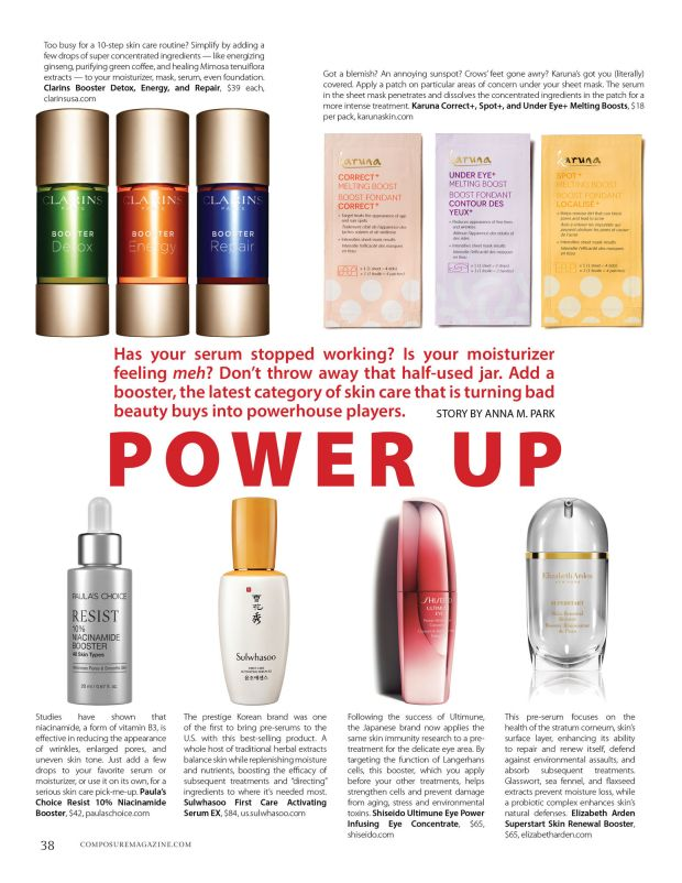 power up boosters in skin care composure magazine