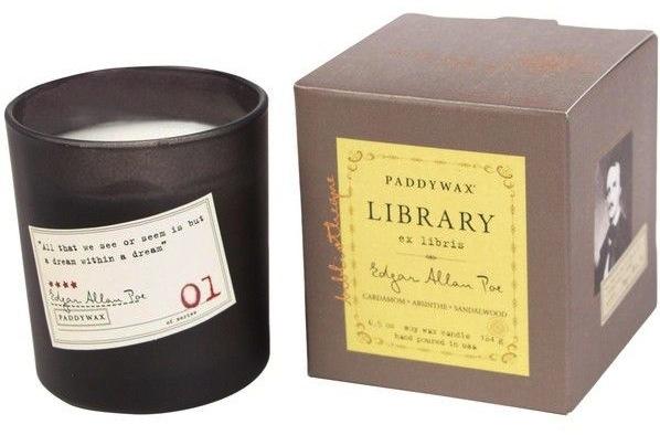 paddywax edgar allan poe library candle