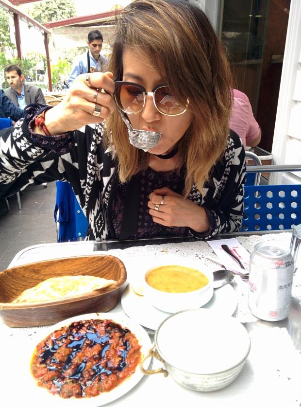 homemade ayran in Istanbul