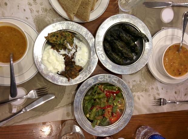 Turkish food also includes probiotic yogurt