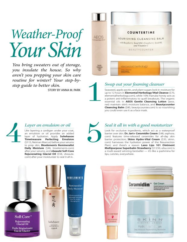 weather-proof your skin