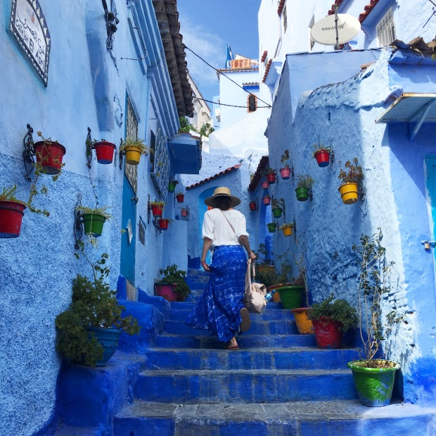 anna in chefchaouen, morocco