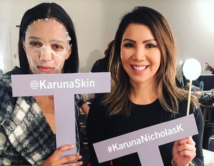 Karuna at New York Fashion Week. Courtesy of Karuna.